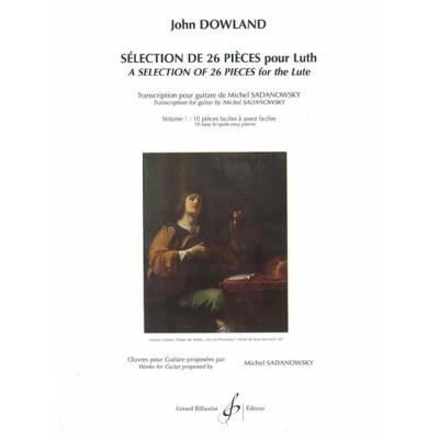 Partitions classique BILLAUDOT DOWLAND JOHN - SELECTION DE 26 PIECES POUR LUTH VOL.1 - GUITARE Guitare