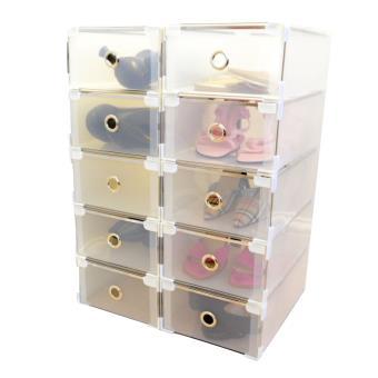 periea 10 tiroirs de rangement boites a chaussures superposable della chaussures pour femmes