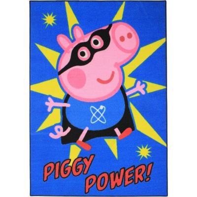 tapis peppa pig piggy super hero chambre enfant 95x133 cm
