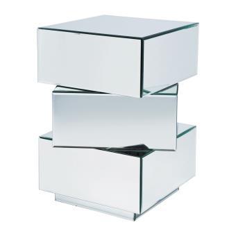 95 58 sur table de chevet design miroir cube 3 tiroirs pm achat prix fnac