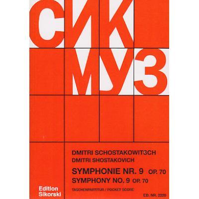 Partitions classique CHANT DU MONDE CHOSTAKOVITCH D. - SYMPHONIE N° 9 OP. 70 - CONDUCTEUR DE POCHE Format poche