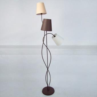lampadaire 3 pieds en ma c tal avec 3 abat jour en coton hauteur 170cma nice