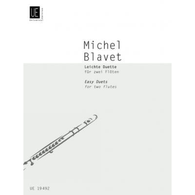 Partitions classique UNIVERSAL EDITION BLAVET MICHEL - EASY DUETS - 2 FLUTES Flûte traversière