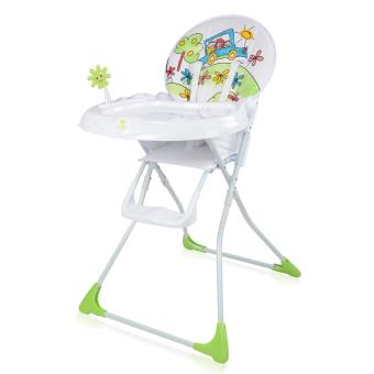 chaise haute bebe musicale jolly vert lorelli