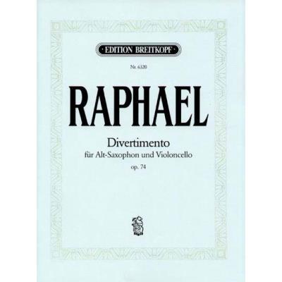 Partitions classique EDITION BREITKOPF RAPHAEL GUNTER - DIVERTIMENTO OP. 74 - ALTO SAXOPHONE, CELLO Saxophone