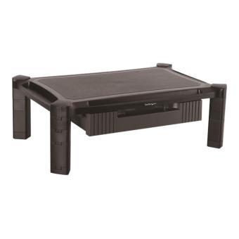 startech com rehausseur d ecran avec tiroir hauteur reglable et grand format rehausseur moniteur support pour ecran a 32 pied