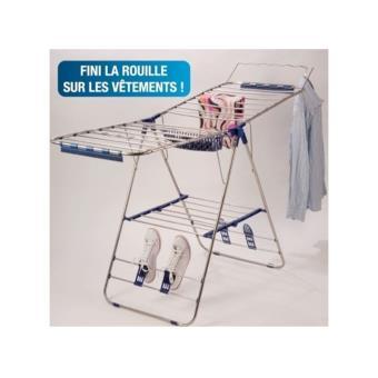 Sechoir A Linge Inox Pliable Interieur Exterieur Accessoire Pour Appareil De Lavage Achat Prix Fnac
