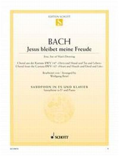 Bach Js Jesus Que Ma Joie Demeure Bwv147 Saxophone Mib/Piano