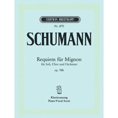 Partitions classique EDITION BREITKOPF SCHUMANN ROBERT - REQUIEM FUR MIGNON OP. 98B - PIANO Piano