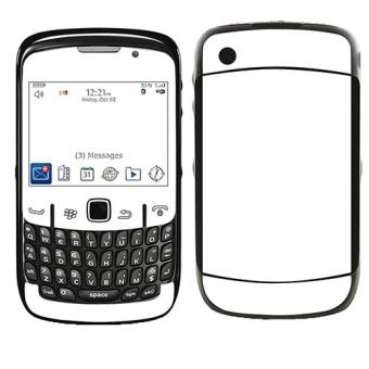 SKIN STICKERS POUR BLACKBERRY 8520 CURVE (STICKER : BLANC