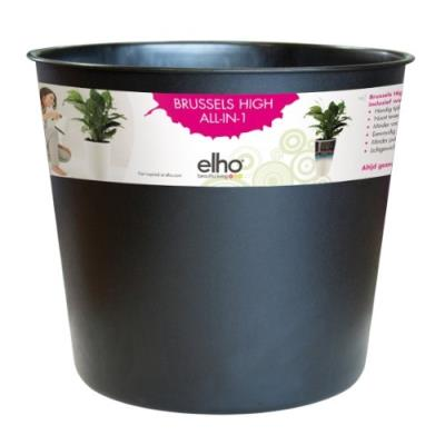 Elho 2054464 Brussels Diamant Pot Interne Noir 32 X 32 X 28 Cm