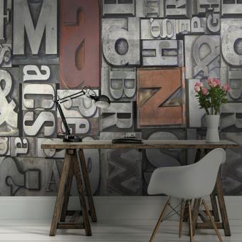 Papier peint industriel mtal  epapierpeintcom  Gris  Dcoration des murs  Achat  prix