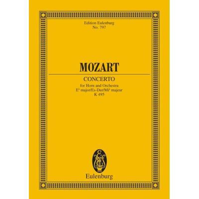 Partitions classique EULENBURG MOZART W.A. - HORN CONCERTO NO 4 EB MAJOR KV 495 - HORN AND ORCHESTRA Cor