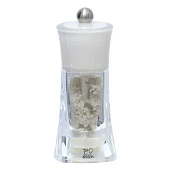 peugeot moulin a sel humide manuel en acryl couleur blanc 14 cm