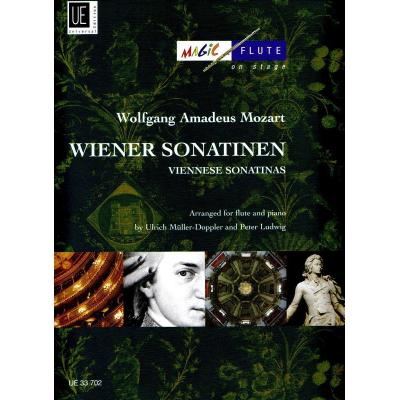 Wolfgang Amadeus Mozart Wiener Sonatinas Arranged For Flute And Piano Sonatines Viennoises Pour Flute Et Piano