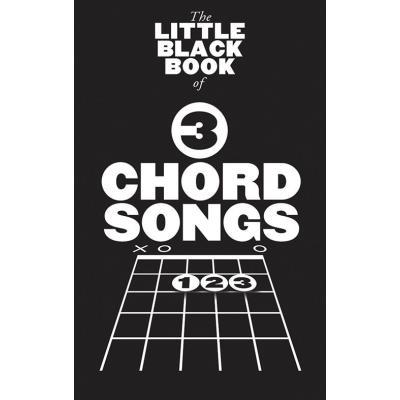 Partitions Variété, Pop, Rock Music Sales Little Black Book - 3 Chord Songs - Parole Et Accords Guitare