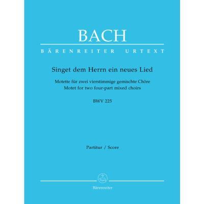 Partitions classique BARENREITER BACH J.S. - SINGET DERN HERRN EIN NEUES LIED B-FLAT MAJOR BWV 225 - CONDUCTEUR Grand format