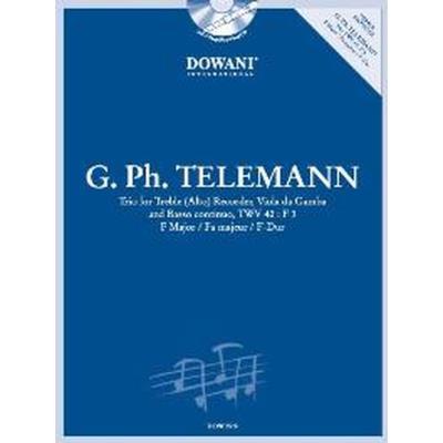 Partitions classique Dowani TELEMANN G.P. - TRIO F MAJOR TWV 42:F 3 - FLUTE A BEC ALTO, VIOLE DE GAMBE ET BASSE CONTINUE Musique de chambre