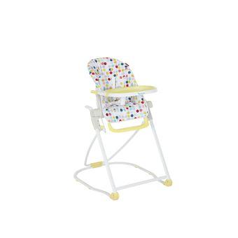 chaise haute compacte badabulle jaune et blanc