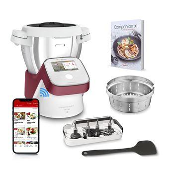 robot cuiseur multifonction moulinex i companion touch xl hf934510 1550 w blanc et rouge
