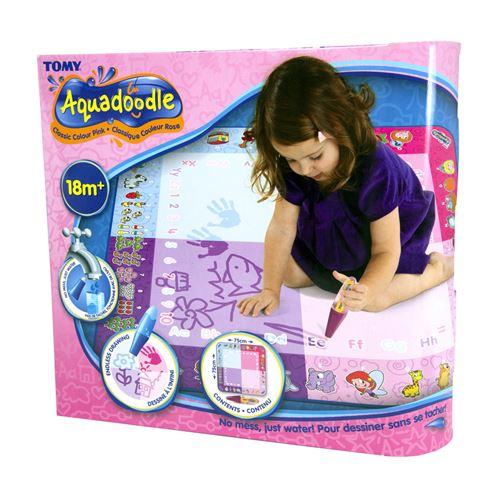tapis tomy aquadoodle classique rose et accessoires