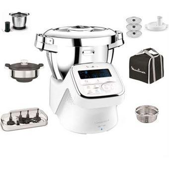 robot cuiseur connecte moulinex i companion xl yy3963fg blanc avec 10 accessoires dedies