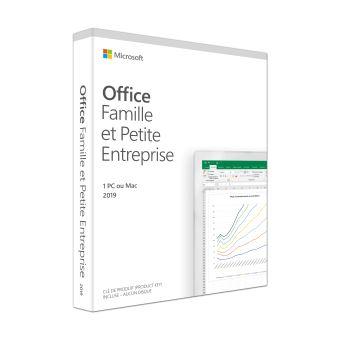 Office Famille et Petite Entreprise 2019 1 PC ou Mac