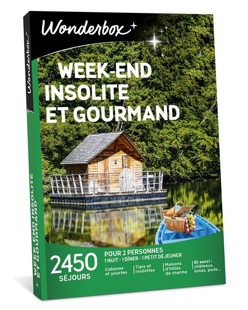Week End Insolite Et Gourmand Wonderbox : insolite, gourmand, wonderbox, Coffret, Cadeau, Wonderbox, Week-end, Insolite, Gourmand, Achat