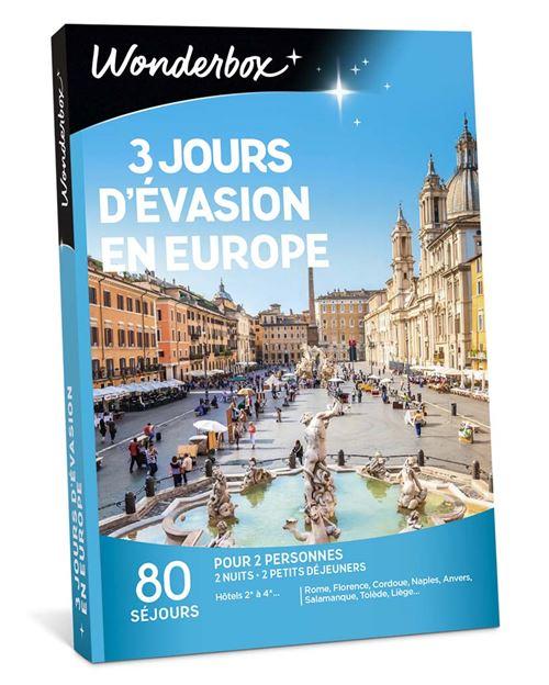 Smartbox 3 Jours D'évasion Gourmande : smartbox, jours, d'évasion, gourmande, Coffret, Cadeau, Wonderbox, Jours, D'évasion, Europe, Achat