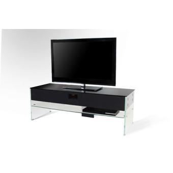 meuble tv nostone scala verre noir