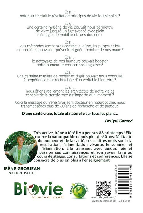 La Vie En Abondance Irène Grosjean Pdf : abondance, irène, grosjean, Abondance, Broché, Irène, Grosjean, Achat, Livre