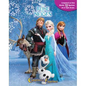 https livre fnac com a7690330 la reine des neiges avec 12 figurines et 1 tapis de jeu comptines et figurines reine des neiges collectif