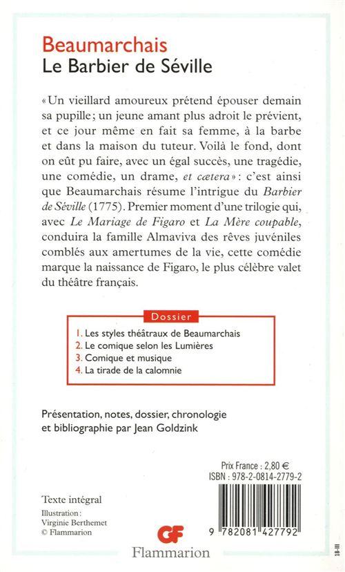Résumé Le Barbier De Séville : résumé, barbier, séville, Barbier, Séville, Editions, Dossier, Poche, Pierre-Augustin, Caron, Beaumarchais, Achat, Livre, Ebook