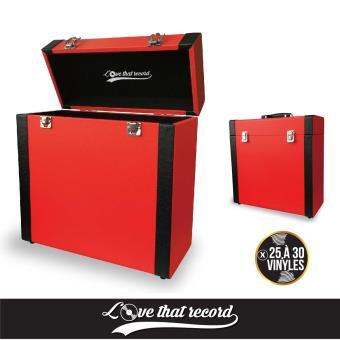 boite de rangement 33 tours rouge et noire