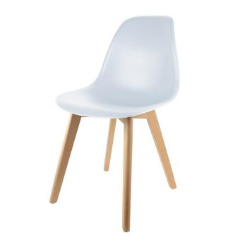 chaise scandinave the home deco factory coque polypropylene blanche m4