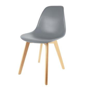 chaise scandinave the home deco factory coque polypropylene grise m2