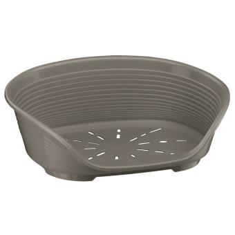 corbeille plastique pour chiens ferplast siesta deluxe 4 gris