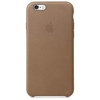 coque apple pour iphone 6s en cuir marron