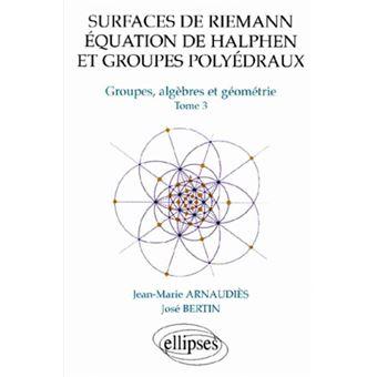 Surfaces de Riemann, équation de Halphen et groupes