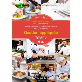 Bp Art De La Cuisine : cuisine, Cuisine, Gestion, Appliquée,, Pochette