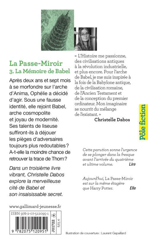 La Passe Miroir Tome 3 Epub : passe, miroir, Passe-miroir, Mémoire, Babel, Christelle, Dabos, Poche, Achat, Livre, Ebook