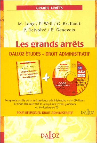 Droit Administratif. Les Grands Arrêts De La Jurisprudence Administrative +  Code Administratif Edition 2007, Avec 1 CD-ROM - Livre CD-ROM - Collectif -  Achat Livre   Fnac