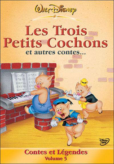 Dessin Animé Trois Petit Cochon : dessin, animé, trois, petit, cochon, Volume, Trois, Petits, Cochons, Autres, Contes, Achat