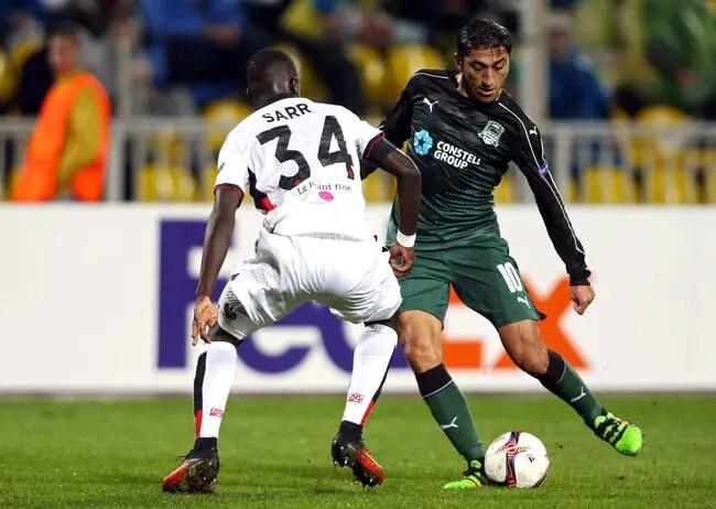 Football Nice  Krasnodar  Nice  52  Europa League