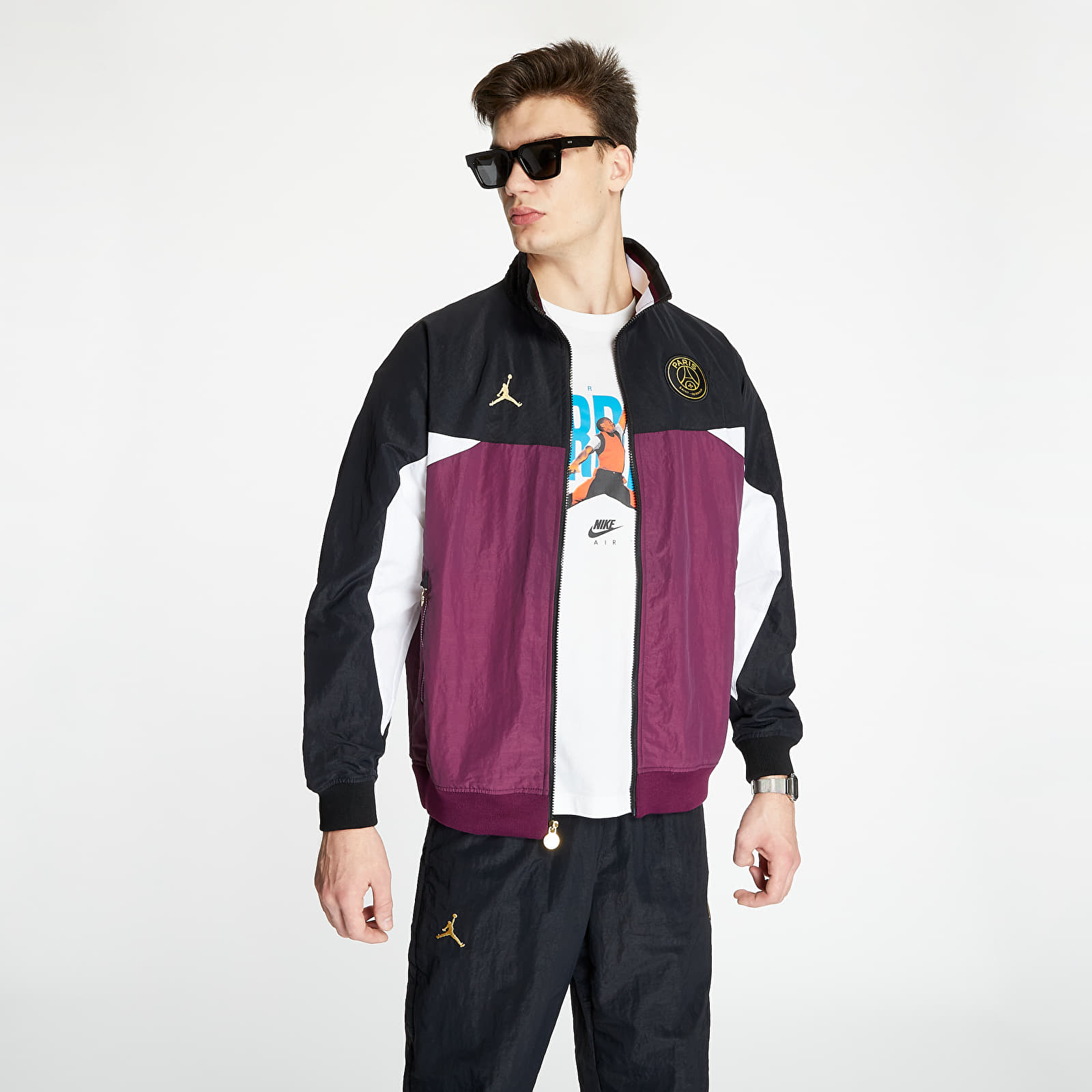 jordan x psg fz jacket purple black footshop
