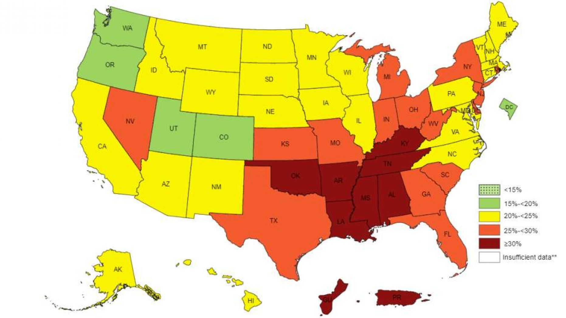 These are the laziest states in America, CDC study finds   FOX 10 ...