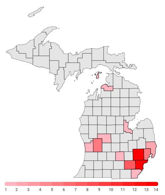 Track Michigan coronavirus cases by county with this interactive ...