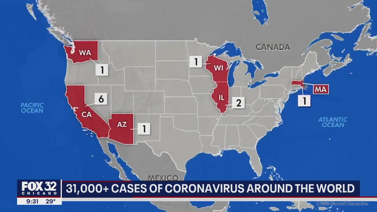 Coronavirus has infected more than 31,400 people globally | FOX 32 ...
