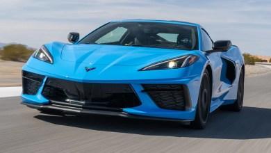 The Chevrolet Corvette Stingray is racing through dealerships