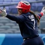 US softball's Kelsey Stewart keeps team's winning streak alive with walk-off homer vs. Japan 💥💥